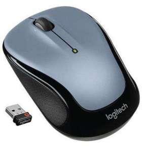 Logitech myš Wireless Mouse M325, optická, unifying přijímač, 3 tlačítka, světle šedá,1000dpi