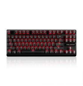 Modecom VOLCANO LANPARTY PLUS drátová mechanická herní klávesnice (Outemu Blue), LED podsvícení, USB, US layout, černá