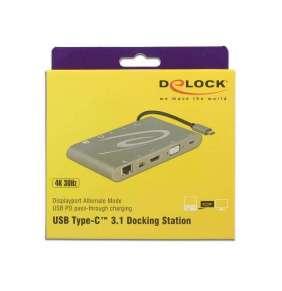 Delock USB Type-C™ 3.1 Dokovací stanice 4K 30 Hz