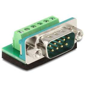 Delock Adaptér D-Sub 9 samec   svorkovnice 6 pinů