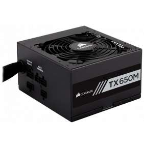 CORSAIR zdroj, TX650M-80 Plus® Gold Certified PSU (ATX, 650W, Semi-modular)