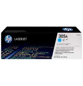 HP toner azúrový HP305A  /vyťaženosť cca 2600str/