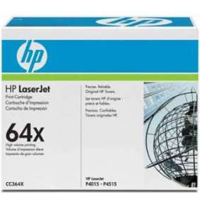 HP 64X Black LJ Toner Cart, 24 000 str, CC364X