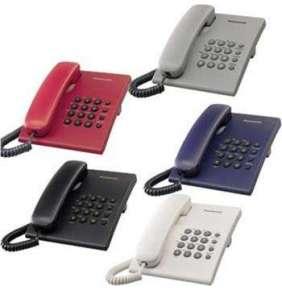 Panasonic KX-TS500FXR - jednolinkový telefon, červený