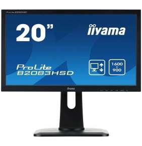 """20"""" LCD iiyama ProLite B2083HSD-B1 - 5ms, 250cd/m2,1000:1, VGA, DVI, repro, pivot, výšk.nastav."""