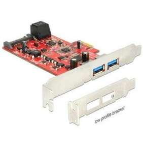 Delock PCI Express Card   2 x external USB 3.0 + 2 x internal SATA 6 Gb/s – Low Profile Form Factor