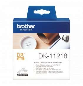 BROTHER DK-11218 - 400 kulatých štítků na kotouči, 24 mm x 90 mm