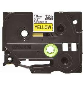 Brother - TZe-FX641, žlutá / černá, 18 mm,  s flexibilní páskou