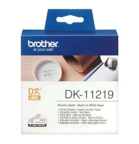 Brother - DK 11219 (papírové / kulaté, průměr 12 mm - 1200 ks)