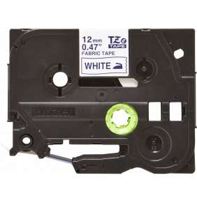 Brother - TZe-FA3, bílá / modrá (12mm, zažehlovací páska)