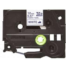 BROTHER TZEFA3 - kazeta TZ šířky 12mm, zažehlovací, TZE-FA3 bílá páska/modré písmo