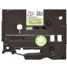 Brother - TZe-C31,  signální žlutá / černá - 1ks (12mm,lam.)