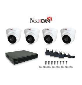 Kamerový set značky NextCAM pre 4 AHD kamery