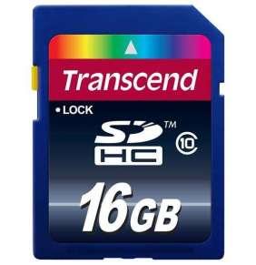 Transcend 16GB SDHC (Class 10) UHS-I 200x (Premium) paměťová karta