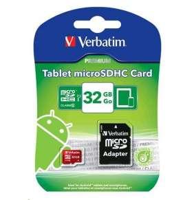 VERBATIM MicroSDHC karta 8GB Class 10 + SD adaptér