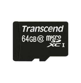 Transcend 64GB microSDXC (Class 10) paměťová karta (s adaptérem)