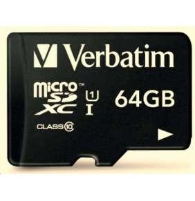 VERBATIM MicroSDXC karta 64GB Premium, 44084, U1_O2 polep