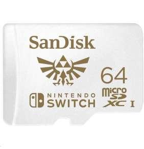SanDisk 64GB microSDXC Card for Nintendo Switch (R:100/W:90 MB/s, UHS-I, V30, U3, C10, A1) licensed Product, Super Mario