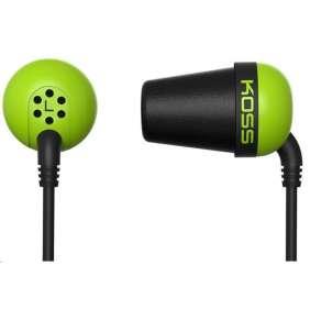 KOSS sluchátka THE PLUG zelená, sluchátka do uší, bez kódu