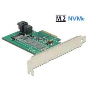 Delock PCI Express Card   1 x internal NVMe M.2 PCIe / 1 x internal SFF-8643 NVMe – Low Profile Form Factor