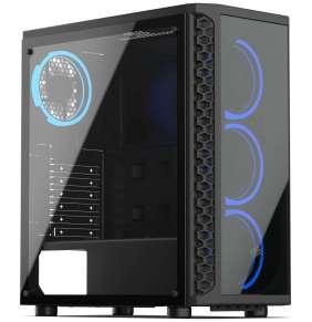 SilentiumPC skříň MidT Signum SG1X TG RGB / 2x USB 3.0/ 4x 120mm fan/ čelo a bok z tvrzeného skla/ RGB podsvícení/ černá