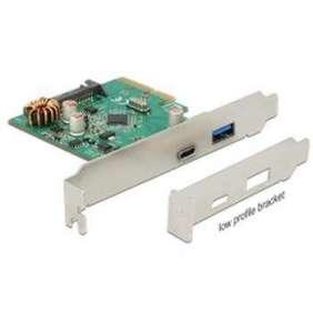 Delock PCI Express x4 Karta   1 x externí USB Type-C™ samice + 1 x externí USB 3.1 Gen 2 Typ-A samice