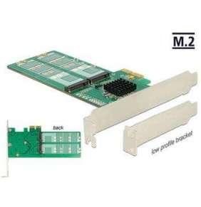 Delock PCI Express Karta   4 x interní M.2 Key B - Low Profile