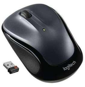 Logitech myš M325/ Bezdrátová/ Optická/ 1000dpi/ USB přijímač/ tmavě šedá