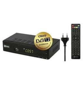 Emos EM170 HD - set-top-box DVB-T2 HEVC/h.265, USB, LAN