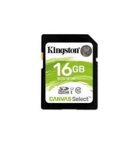 Kingston pamäťová karta 16GB Canvas Select SDHC UHS-I U1 (čtení/zápis: 80/10MB/s