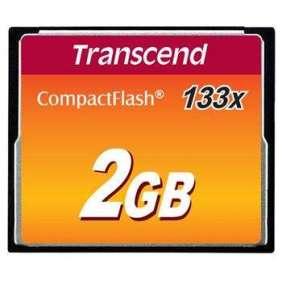 Transcend 2GB CF (133X) paměťová karta (MLC)