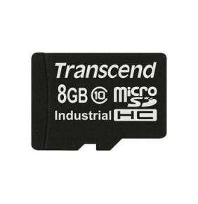 Transcend 8GB microSDHC (Class 10) MLC průmyslová paměťová karta (bez adaptéru), 20MB/s R, 18MB/s W