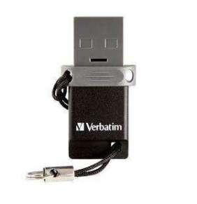 VERBATIM Dual USB Drive 64 GB - OTG/USB 2.0 for Smarphones & Tablets