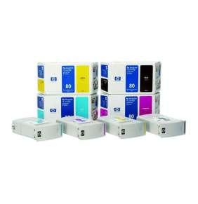 HP 80 Žlutá inkoustová kazeta, 350 ml