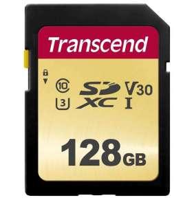 Transcend 128GB SDXC 500S (Class 10) UHS-I U3 V30 MLC paměťová karta, 95 MB/s R, 60 MB/s W