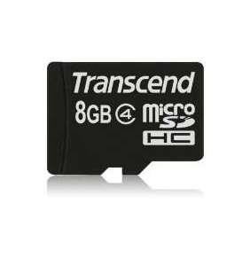 TRANSCEND MicroSDHC karta 8GB Class 4, bez adaptéru
