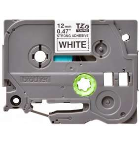 TZE-S231, bílá/černá, 12mm