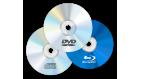 Média CD, DVD a Blu-Ray